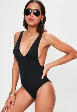 Black Ultimate Plunge Swimsuit