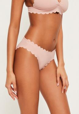 Nude Scallop Hipster Bikini Bottoms - Mix & Match