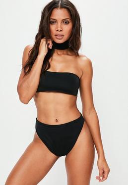 Ensemble bikini noir ras de cou
