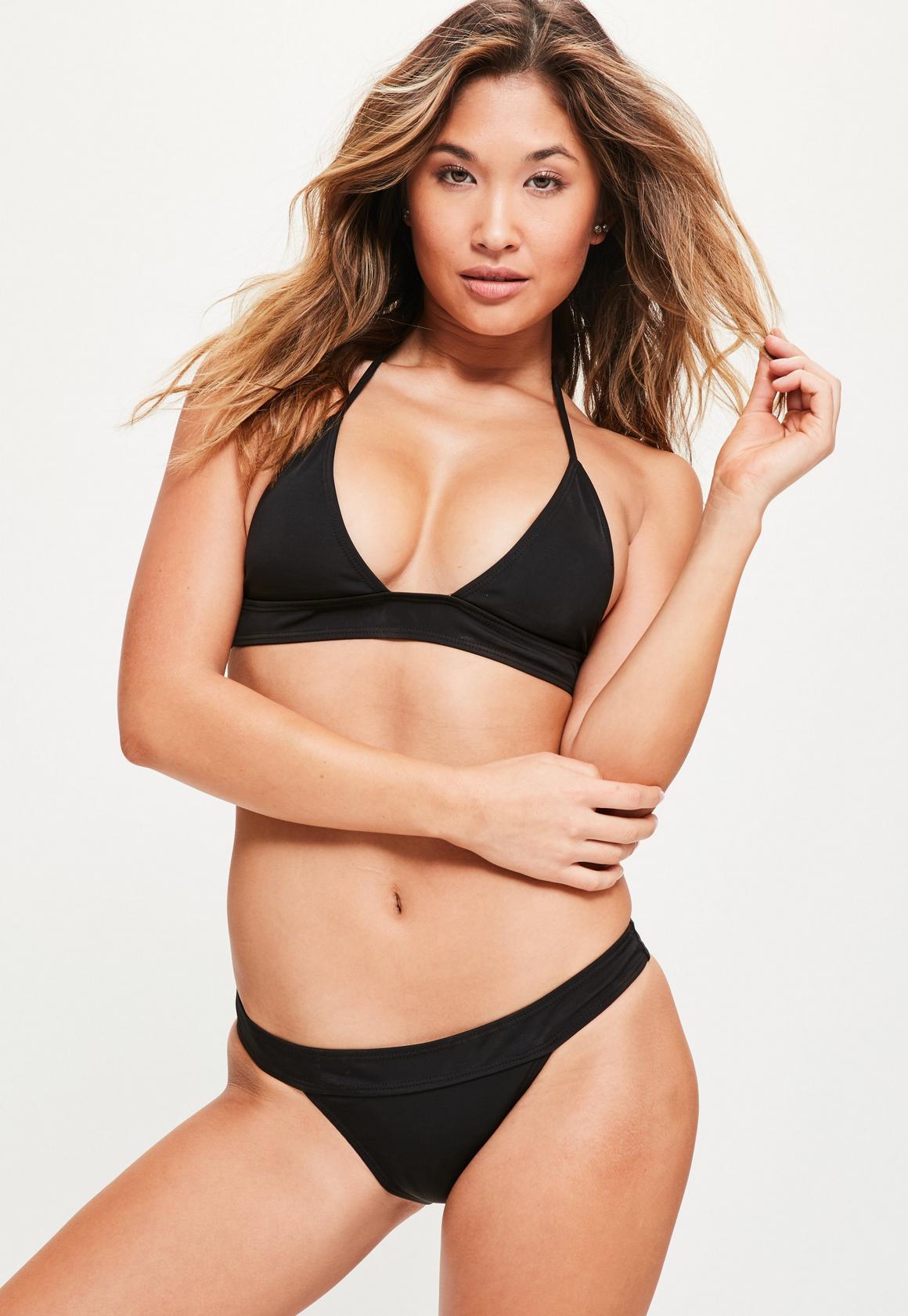 Halter triangle bikini