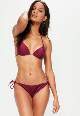Cherry Red Tie Side Bikini Bottoms - Mix&Match