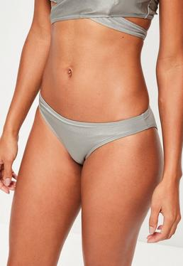 Grey Hipster Bikini Bottoms - Mix & Match