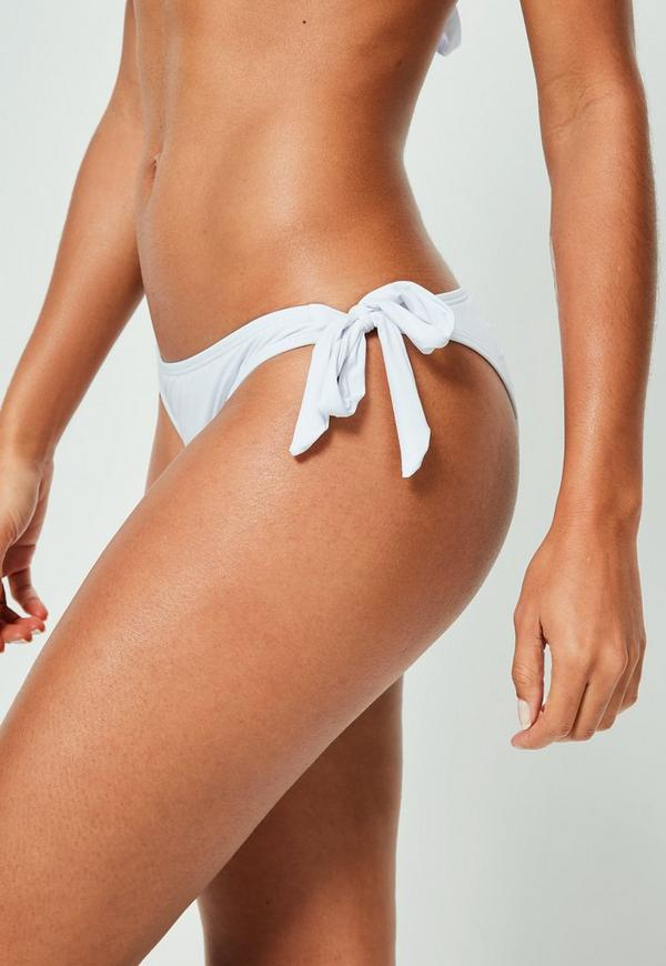 White Sash Side Bikini Bottoms - Mix&Match