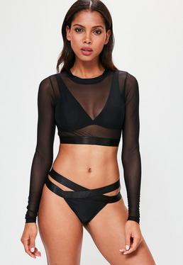 Black Ultimate Mesh Bikini Set