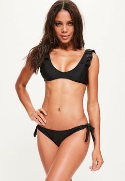 Black Frill Shoulder Bikini Top - Mix & Match
