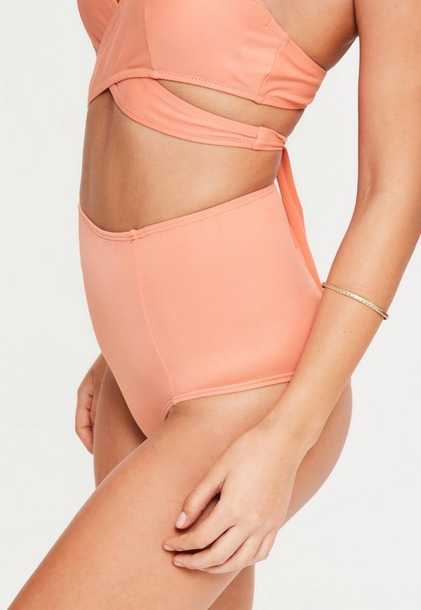 Peach High Waisted Bikini Bottoms - Mix & Match