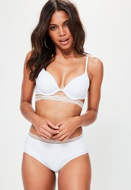 White Underwired Cut Out Bikini Set