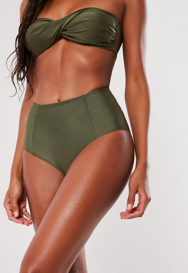 Wear our high waisted bikini bottoms under a Smart&Sexy tankinis for a smoothing effect or wear with one of our bikini tops for a modern take on retro. Full coverage and cheeky options available in plus sizes.