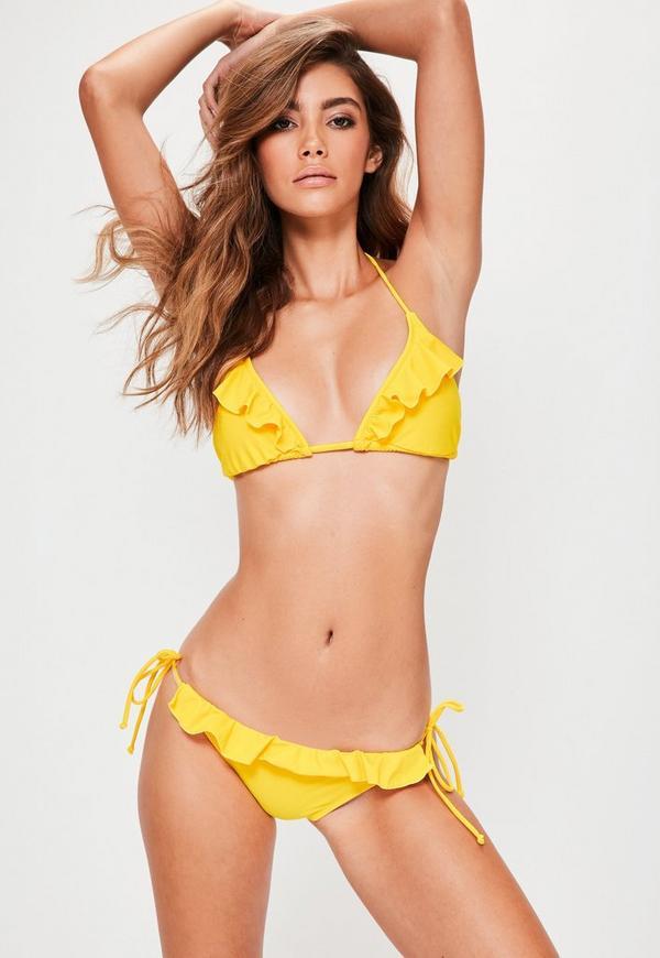 Yellow Frill Bikini Set