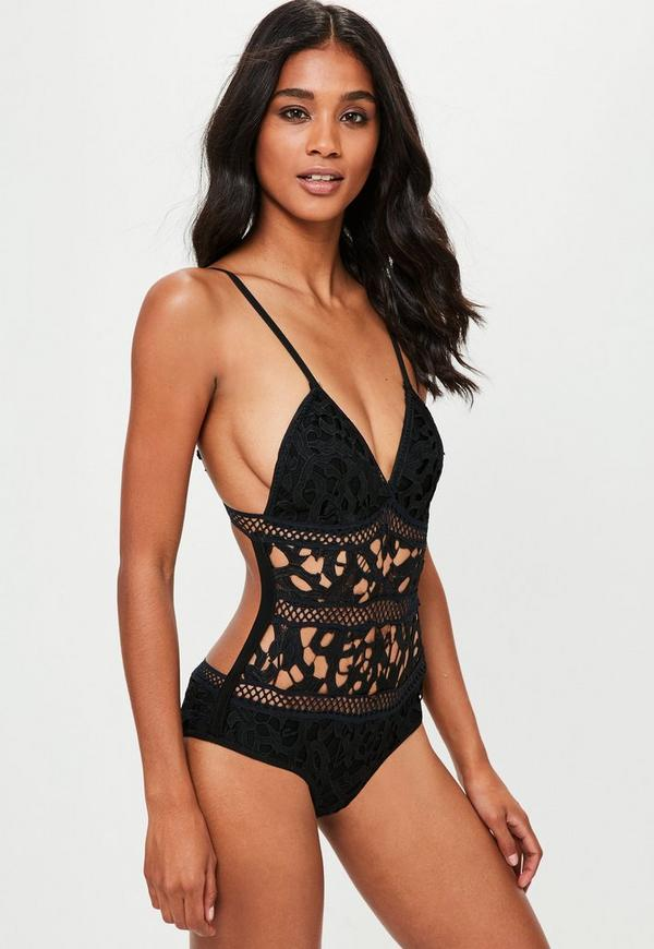 Black Cut Out Swimsuit | Missguided