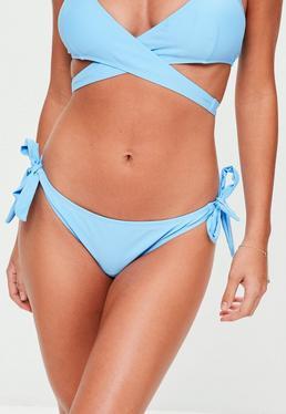 Blue Sash Side Bikini Bottoms
