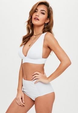 White Triangle Bikini Top Mix And Match