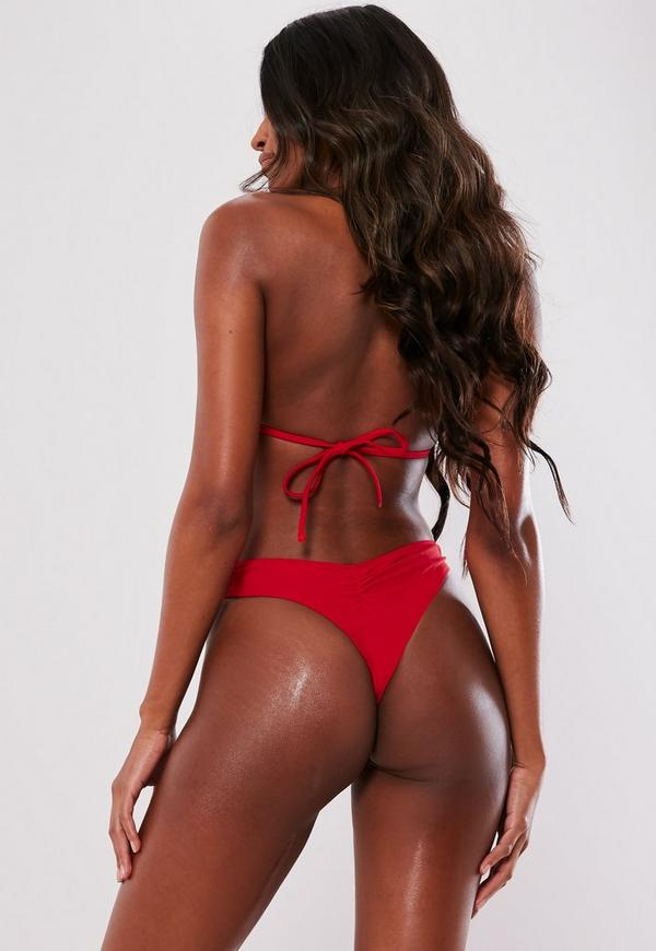 37fabb84336aa Moulded Triangle Bikini Top in Red - Mix   Match