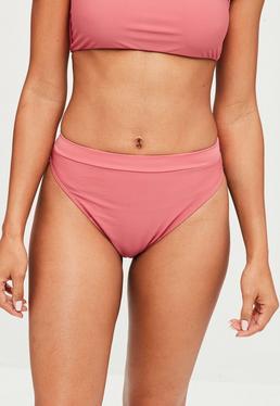 Pink Super High Waist Bikini Bottoms - Mix&Match