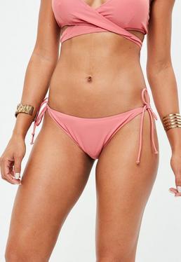 Pink Tie Side Bikini Bottoms - Mix & Match