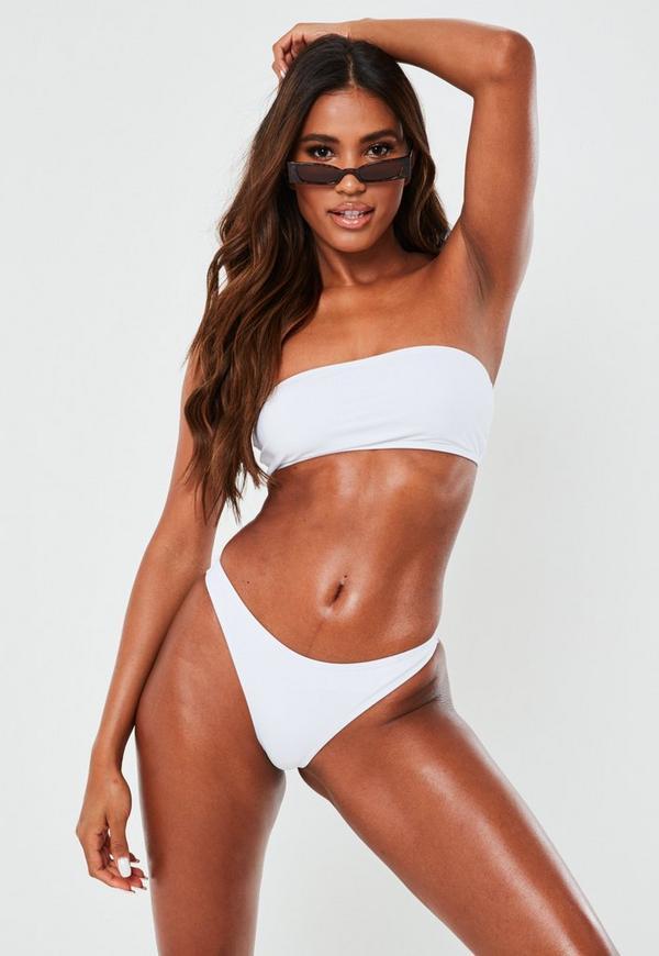 3f2c42598e White Mix And Match Bandeau Bikini Top