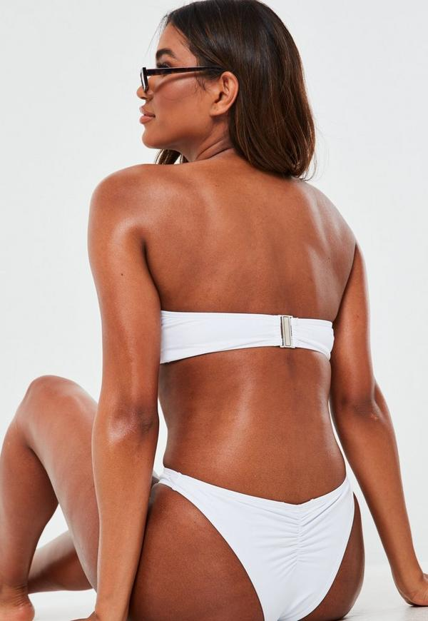 49cfd9d7ddfad White Mix And Match Bandeau Bikini Top. Previous Next