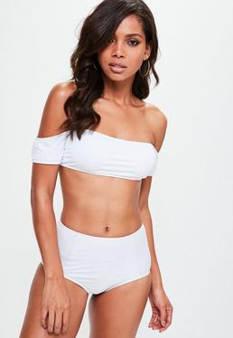 White Bardot Bikini Top - Mix & Match