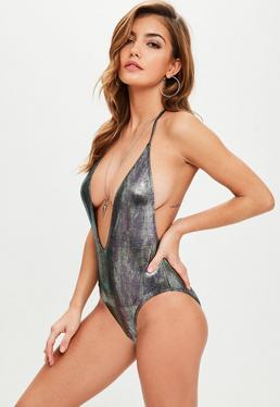 Black Mermaid T Bar Swimsuit