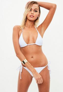 White Triangle Bikini Set