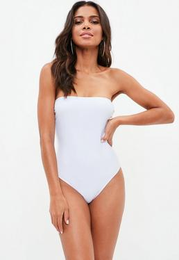 White Bandeau Swimsuit