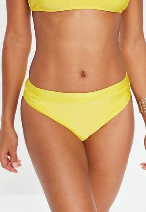 cf59fca0fbbcc £4.00. yellow high leg high waisted bikini ...