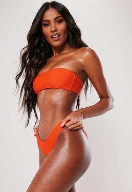 fcc62c2def Orange Bikini Bottoms. Neon Bikinis. Orange Bikini Tops. Orange High  Waisted Bikinis