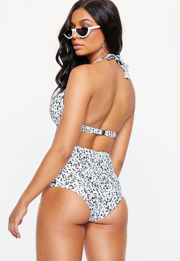 3feaa0e8b6 White Animal Print High Waist Bikini Brief - Mix   Match. Previous Next
