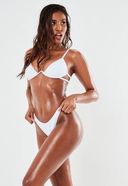 de bikini tanga blanc, Blanc