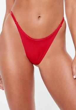 87fd71e9166da Red Bikinis. Bikini Sets. Black Swimsuits. Thong Bikini Bottoms
