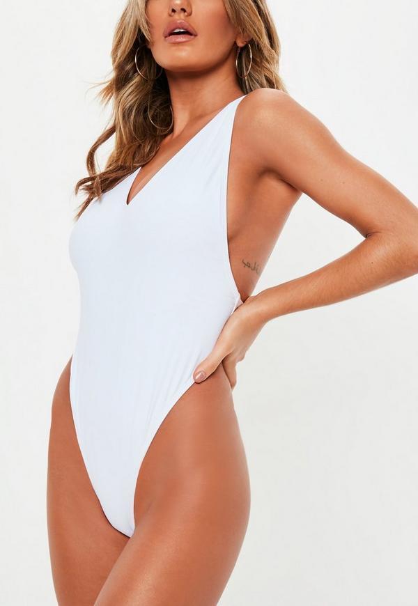 9a58031b0a White Super High Leg Thong Swimsuit. Previous Next