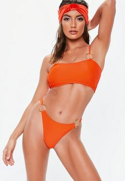 Orange top bikinis