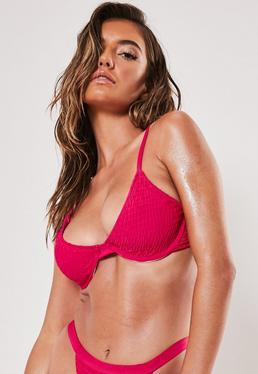 a3cdb82f0 Pink Crinkle Underwire U Bikini Top