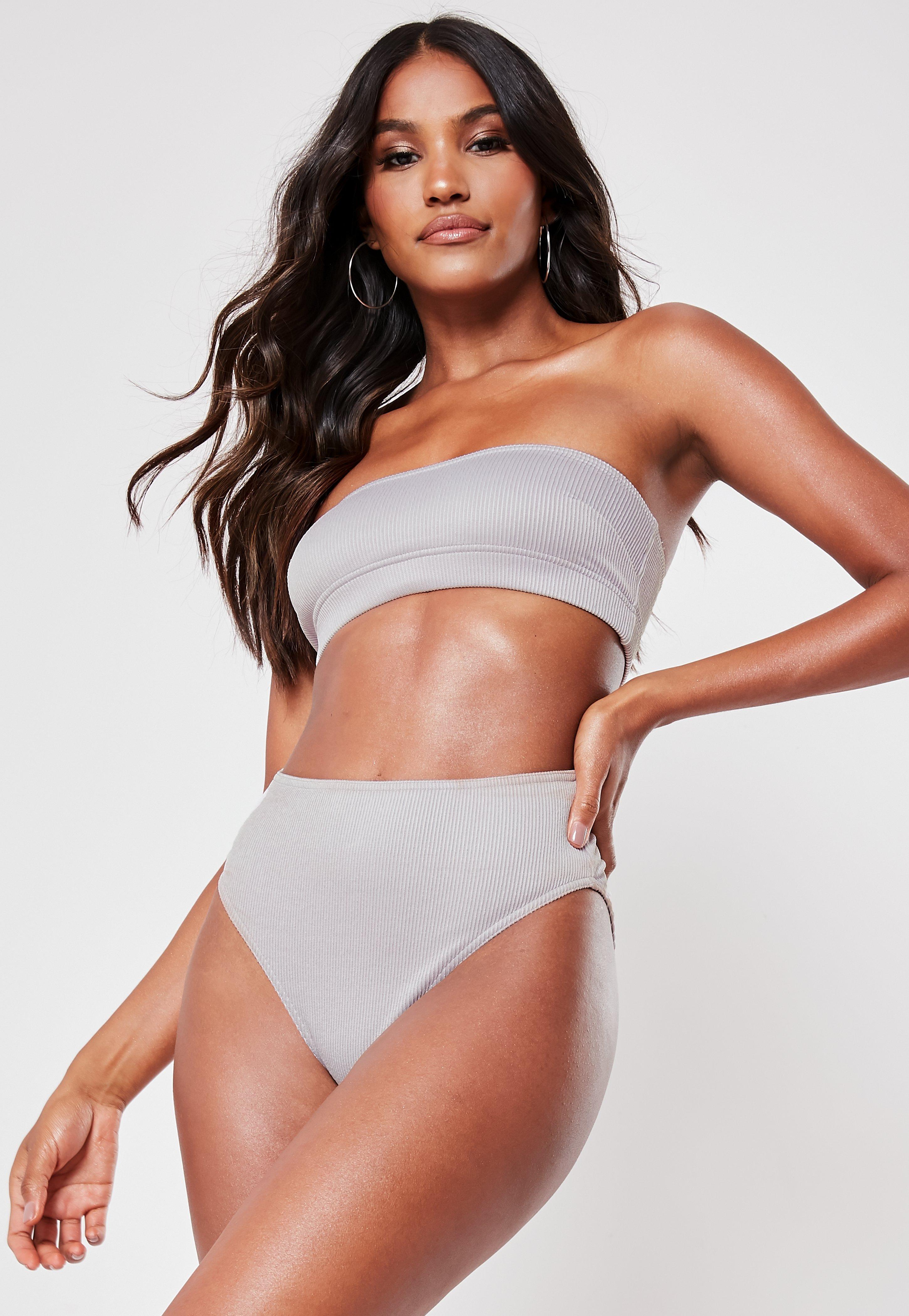 Ogromnie Bikini - Stroje Kąpielowe z Wysokim Stanem - Missguided PL ZQ06