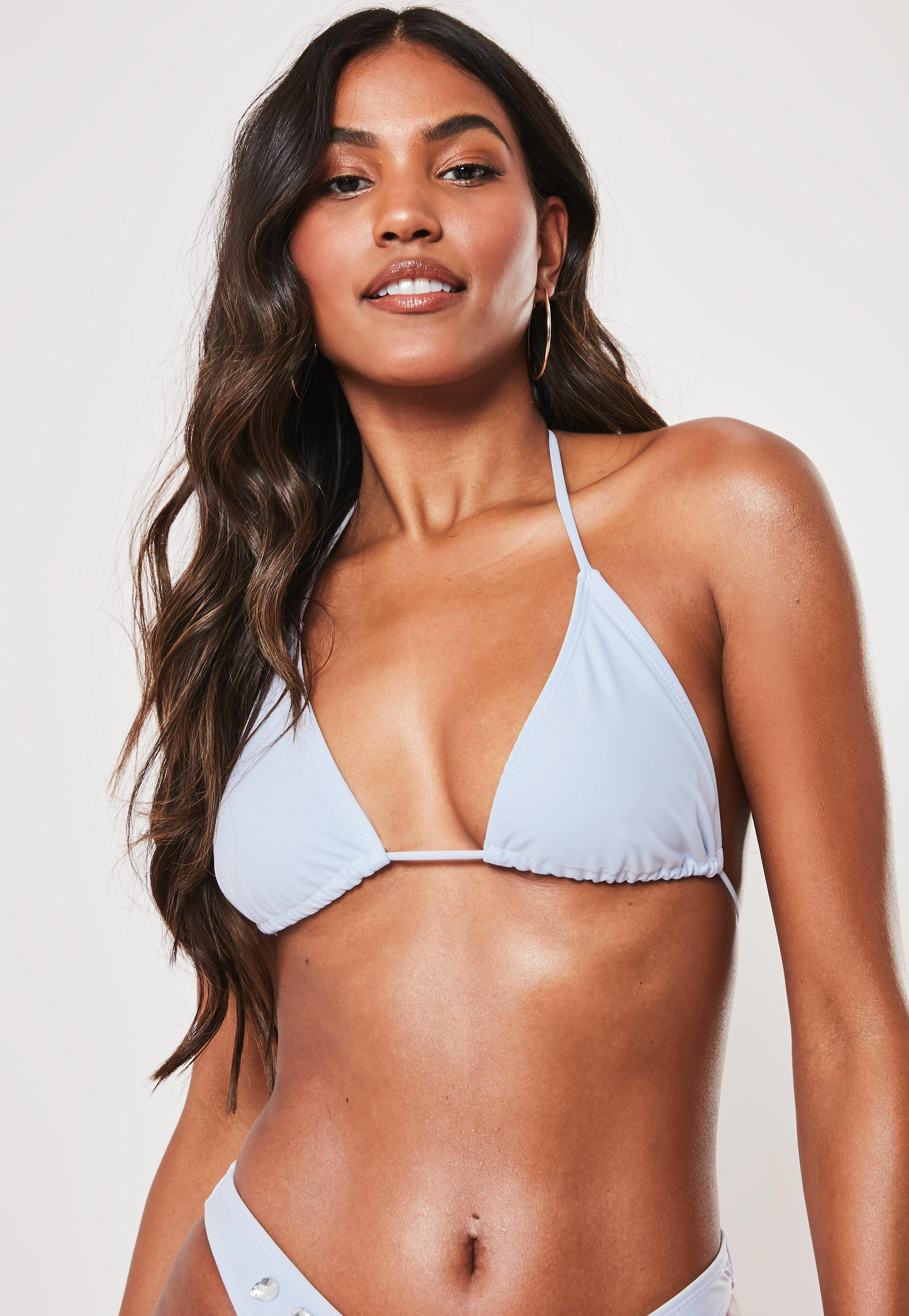 328c989038 Pale Purple Triangle Bikini Top