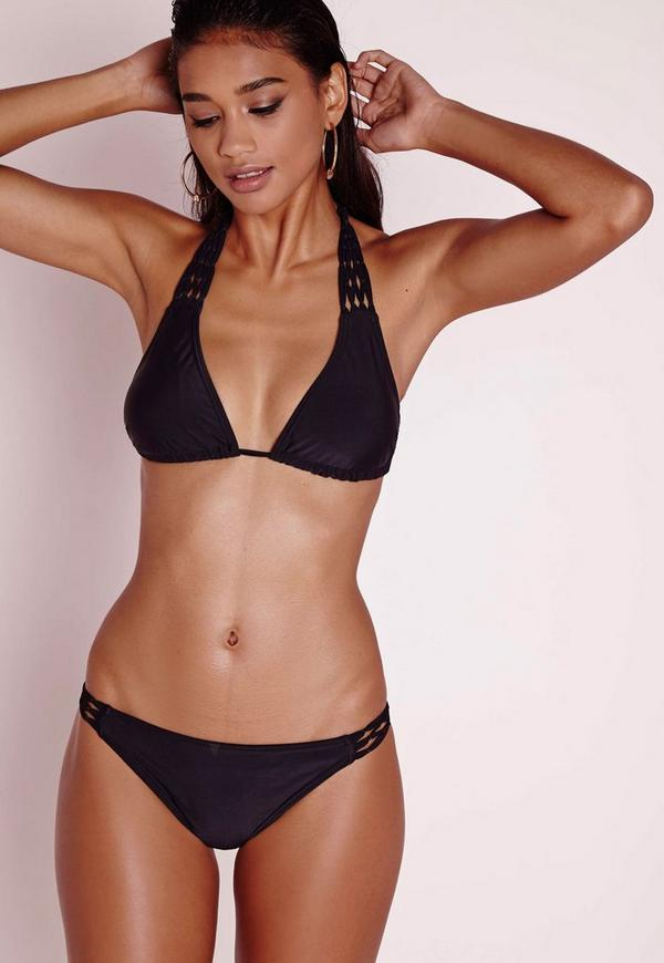 Knotted Detail Bikini Set Black