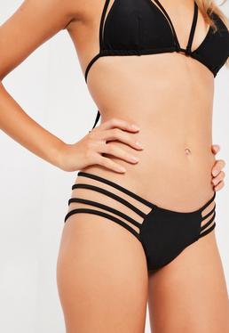 Black Strappy Bikini Set
