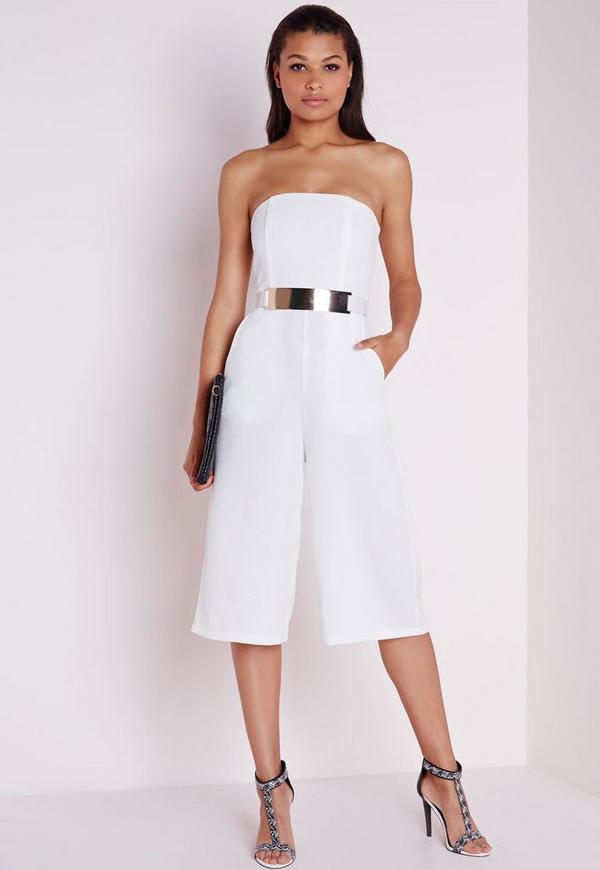 Bandeau Culotte Jumpsuit White