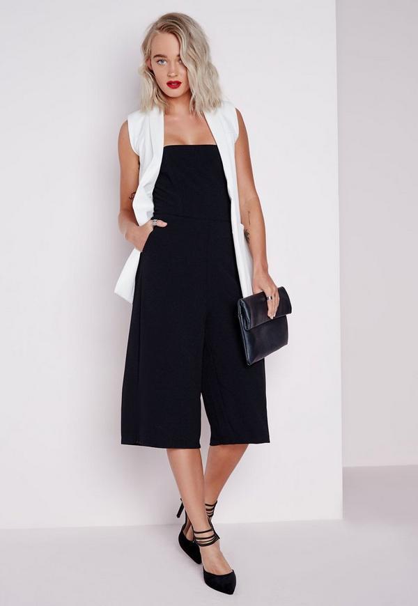 Bandeau Culotte Jumpsuit Black