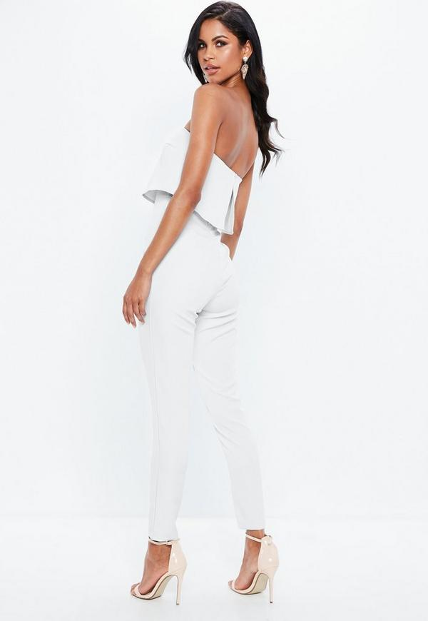 907b7b1dc34 Bandeau Double Layer Jumpsuit White. Previous Next