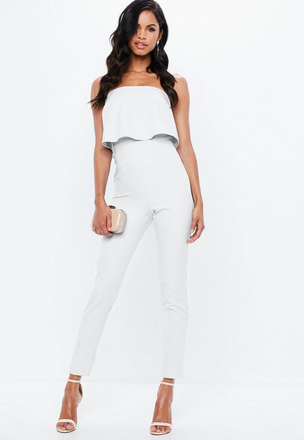 0f2d3f160b30 Bandeau Double Layer Jumpsuit White. Previous Next