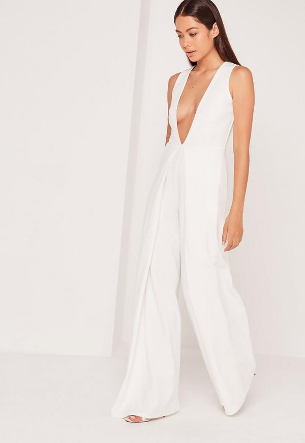 9a6074795db Crepe Origami Detail Jumpsuit White