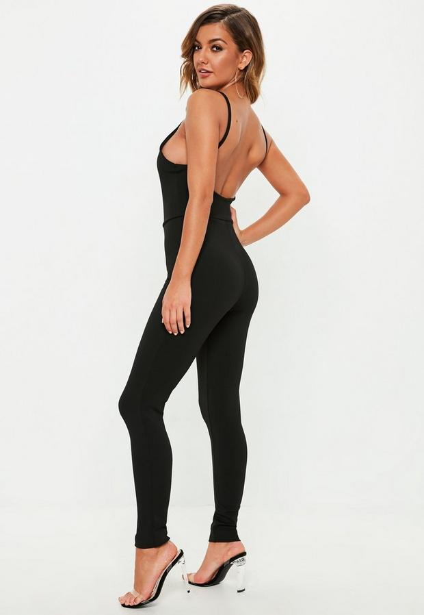 Missguided - Crepe Low Back Ankle Grazer Jumpsuit - 4
