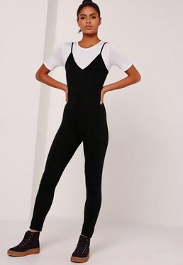 Jersey 2 in 1 Jumpsuit Black
