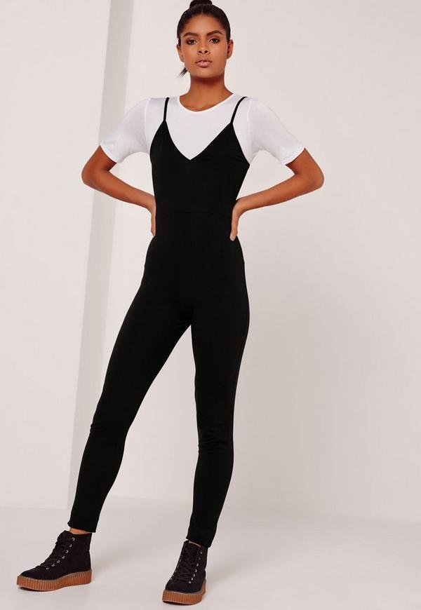 Jersey 2 in 1 Jumpsuit Black