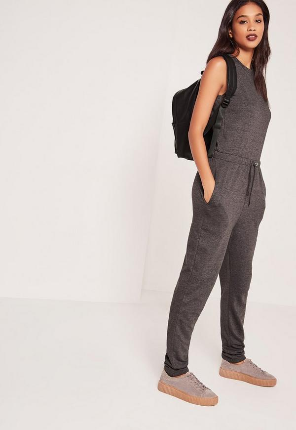 Sleeveless Jumpsuit Grey