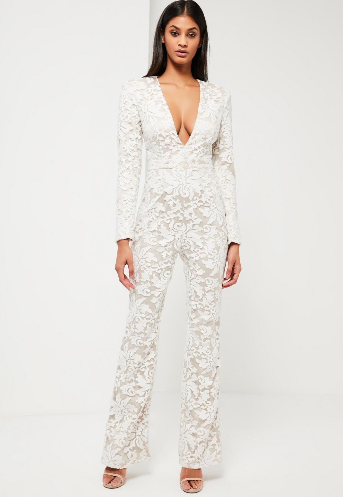 White Jumpsuits | Women's White Dungarees - Missguided