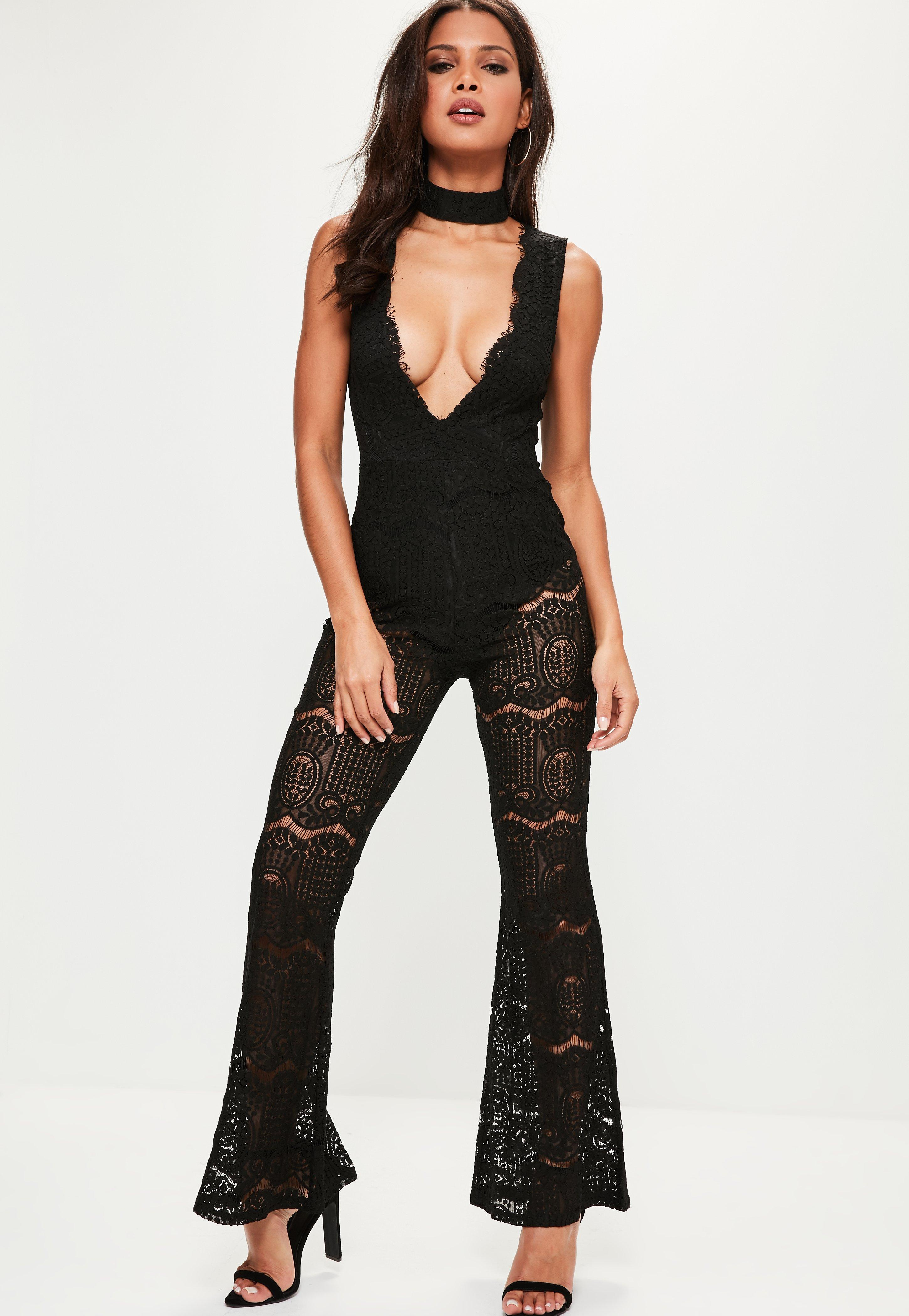 Missguided Plunge Lace Playsuit Sale With Credit Card Free Shipping Cheapest Price 0GtdVRcbtW