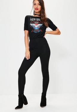 Black Rock Graphic Slouch Jersey Jumpsuit