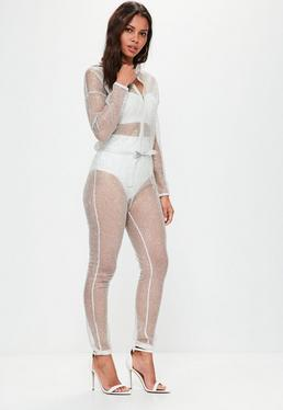 Silver Sparkle Metallic Jumpsuit
